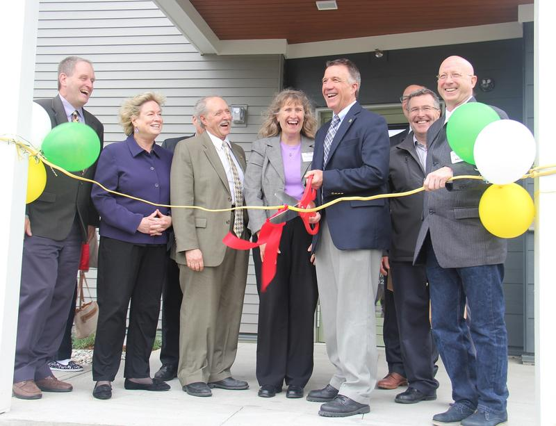 At the opening of an affordable housing development in Milton, Gov. Phil Scott said investments in affordable housing are important for Vermont's economy.