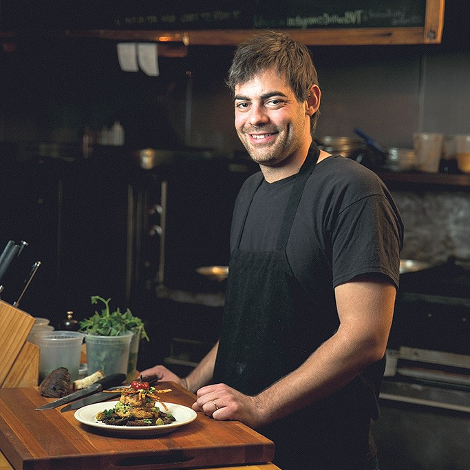 Andrew Ryan is not only executive chef at Wake Robin in Shelburne but is also co-owner of Drifter's Cafe in Burlington.