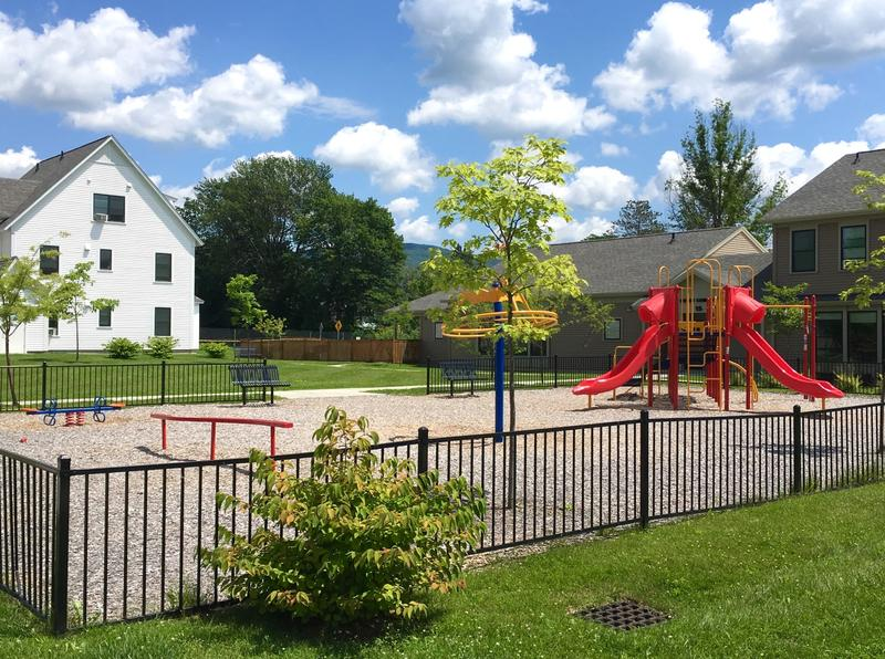 A new playground sits next to the Hickory Street Apartments Community Center. The center also houses a Head Start program, a Boys & Girls Club and other local groups.