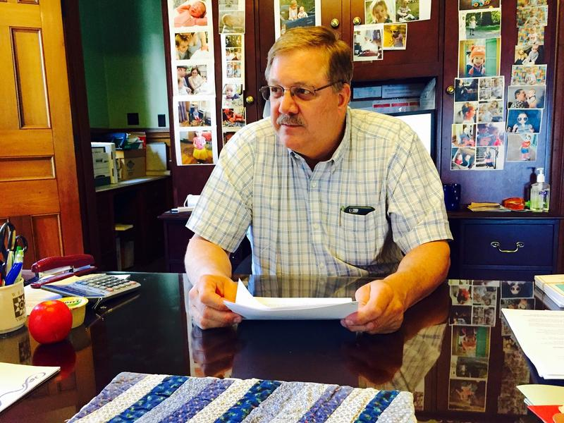 Secretary of State Jim Condos, seen here in his office in June, is refusing to turn over Vermont's voter database to the Presidential Election Integrity Commission