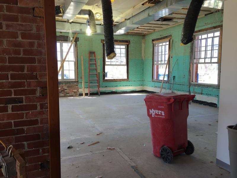 This original building was gutted and renovated to provide open, collaborative work spaces for VPR Staff.
