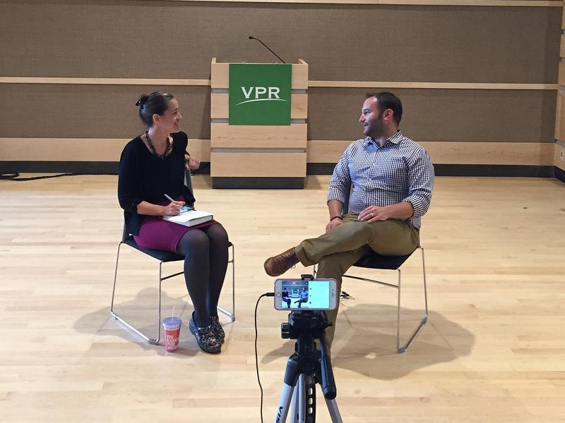One of the first events held in Studio One was a discussion with NPR Morning Edition Host David Greene. His interview with VPR's Patti Daniels was broadcast on Facebook Live for anyone to enjoy.
