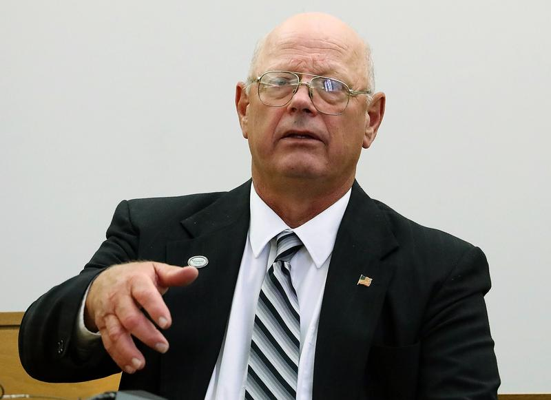 Former lawmaker Norm McAllister takes the stand to testify on the third day of his trial at Vermont Superior Court in St. Albans on Friday, July 14, 2017.
