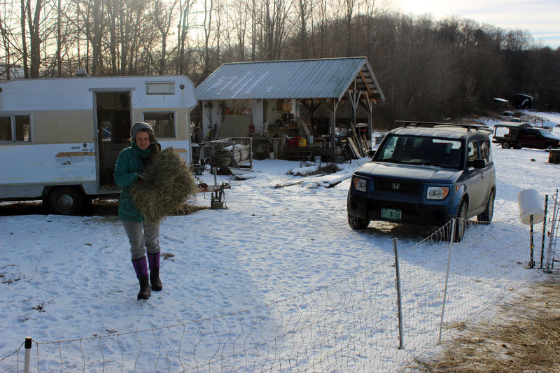 Taylor Hutchinson of Footprint Farm in Starksboro, Vermont, was one of those surveyed in the UVM study. Taylor says she relies on Medicaid for insurance because their farm income doesn't bring in enough to buy coverage.