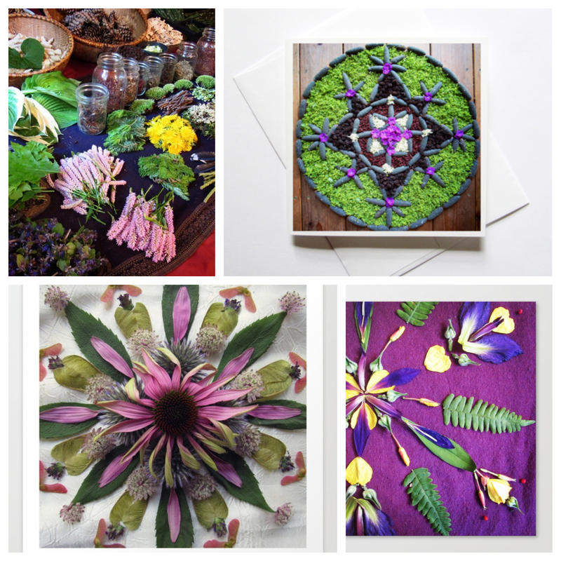 Plainfield artist Michelle Wallace uses natural materials to create mandalas that she then photographs.
