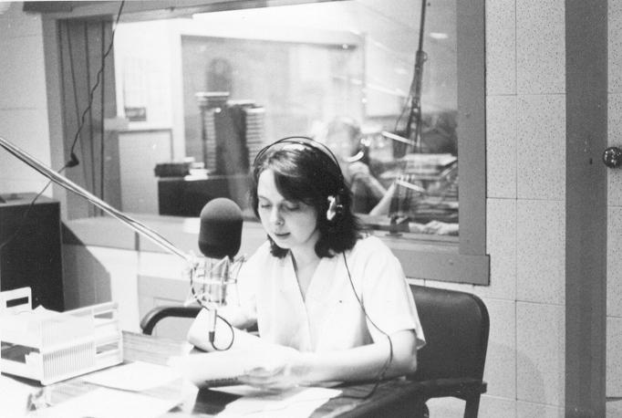 "Betty Smith Mastaler, seen here in 1978, talked to ""Vermont Edition"" recently about her first years at VPR and the state of the station."
