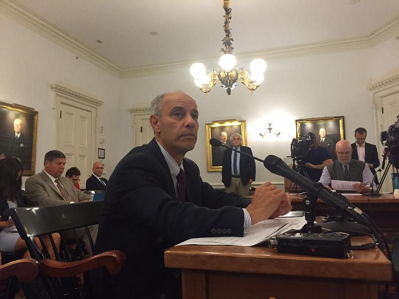 Adam Greshin, commissioner of finance for the Scott administration, testified before lawmakers Thursday. Greshin says the administration's revised spending plan will plug a $12.6 million revenue gap without impacting government services.