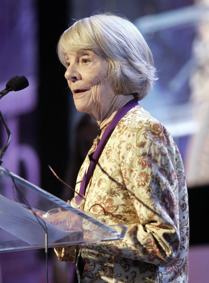 In this file photo, Judith Jones accepts a lifetime achievement award at the James Beard Foundation Awards ceremony on May 8, 2006 in New York. Jones, who edited cookbooks and more throughout her career, died at her summer home in Walden on Aug. 2, 2017.