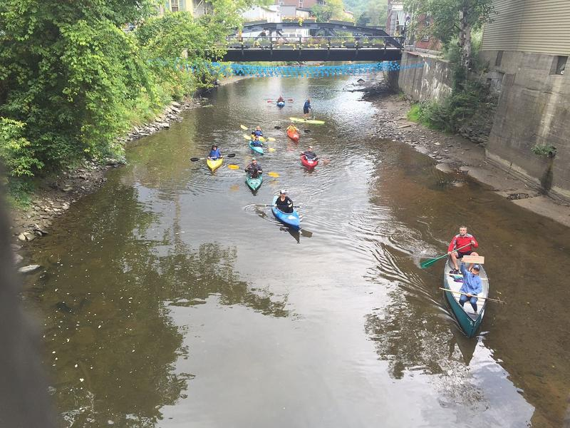 Clean water advocates paddled the North Branch River in Montpelier Thursday morning to urge lawmakers and Gov. Phil Scott to pump more money into pollution-reduction initiatives.