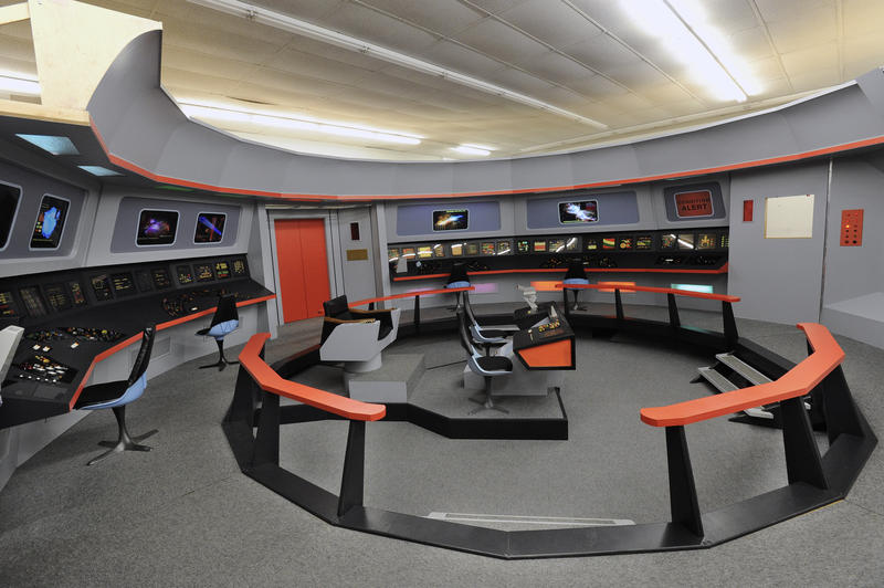 A replica of the Enterprise bridge set from the original
