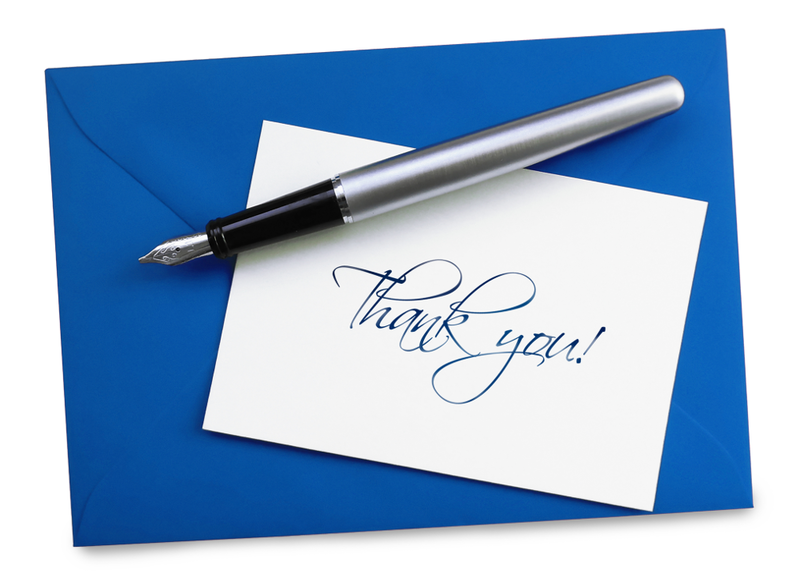 A thank-you note should always be written in a timely manner but it's still appreciated even when sent late.
