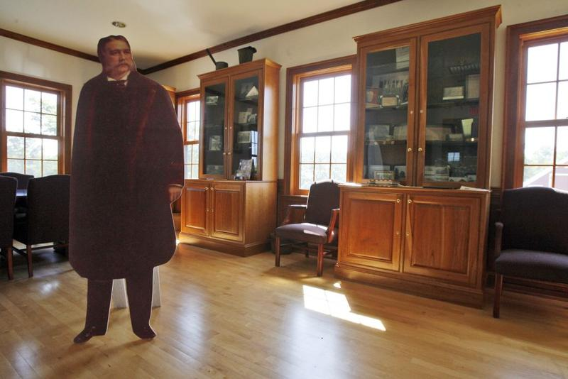 President Chester A. Arthur - in cutout form - presides over the town office in Fairfield, Vermont back on Aug. 14, 2009. We're talking about Arthur's life and his unexpected presidency.