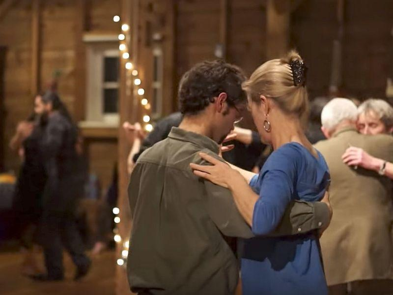 Couples dance to live tango music performed by Tango Norte. The local group will hold another milonga, or social dance, for tango enthusiasts this weekend in South Pomfret.