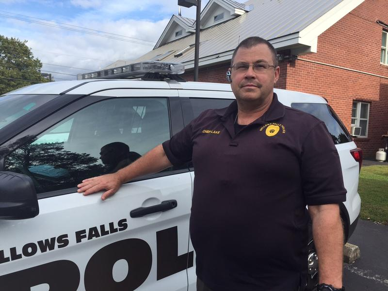 The Bellows Falls Police Department arrested a man recently with about 1,000 bags of heroin in his car. Police Chief Ron Lake, pictured above, asked this year for a new officer to combat the heroin crisis but the voters rejected his request.