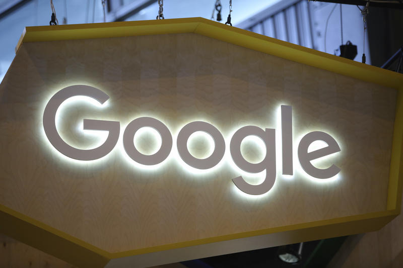 Google, whose sign is pictured at Vivatech in Paris in June, is resisting a request from Vermont authorities for user data that's stored overseas. A Vermont court ruled against the company, but Google appealed that decision to the state's supreme court.