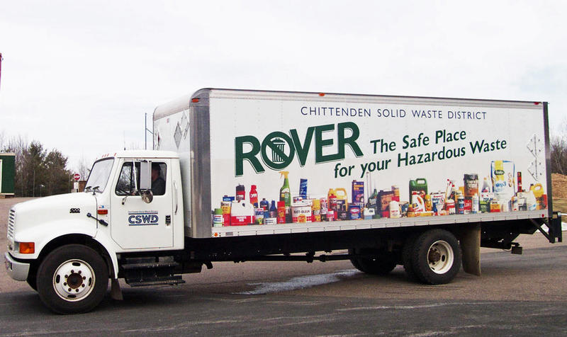 The Rover, CSWD's mobile household hazardous waste collection vehicle, had to shut down operations in Jericho on Saturday when someone turned in explosive diethyl ether.