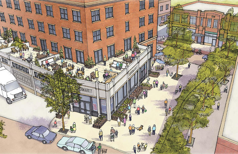 This drawing shows part of the plan developers have for The Putnam Block in downtown Bennington.