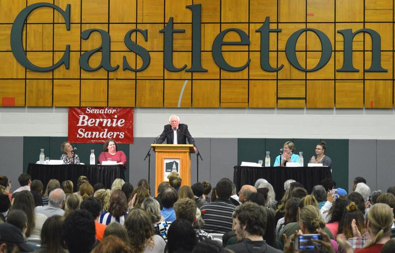 Sen. Bernie Sanders explained his proposed College For All Act at Castleton University Tuesday night. The bill would eliminate tuition and fees at public four-year colleges and universities for families making up to $125,000.