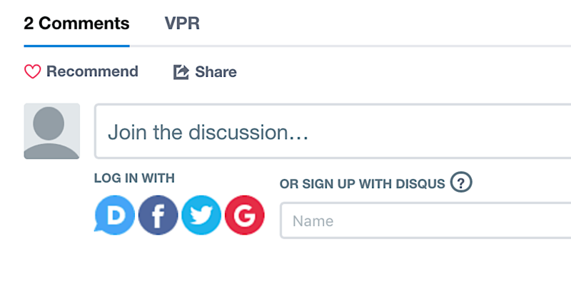VPR.net uses the comment platform Disqus to enable comments by visitors to VPR.net.
