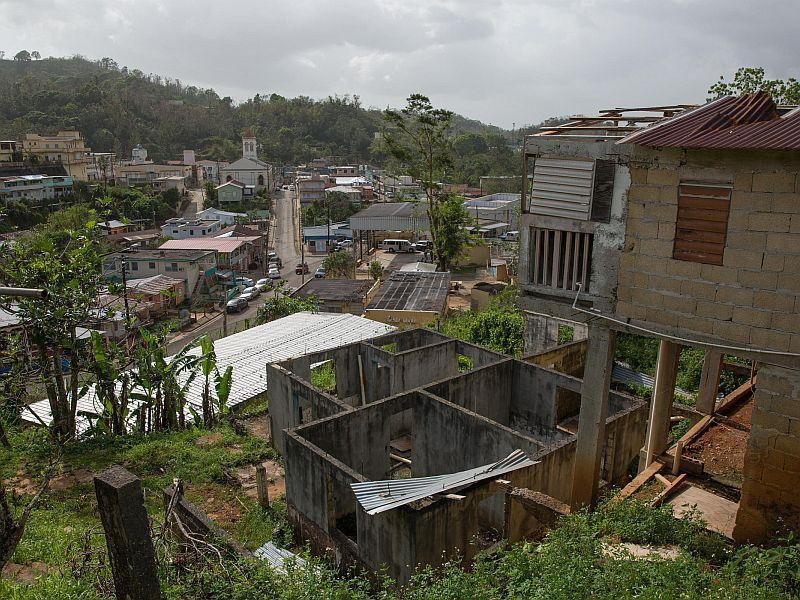 A look at the town of Maricao, Puerto Rico after Hurricane Maria. WNPR's Jeff Cohen spoke to