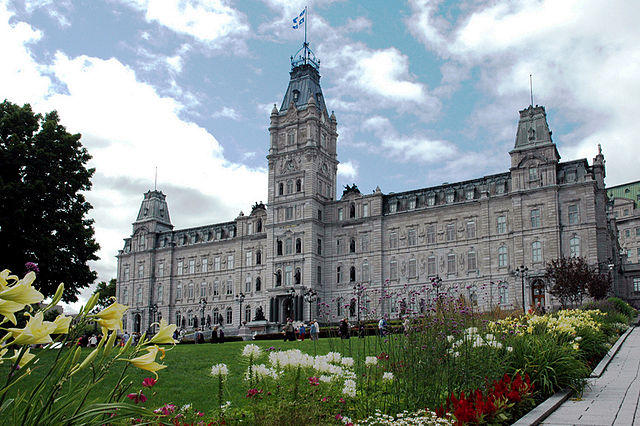 The National Assembly in Quebec City. A law passed by the National Assembly in Quebec essentially forces Muslim women and others to uncover their faces to receive public services or work in the public sector.