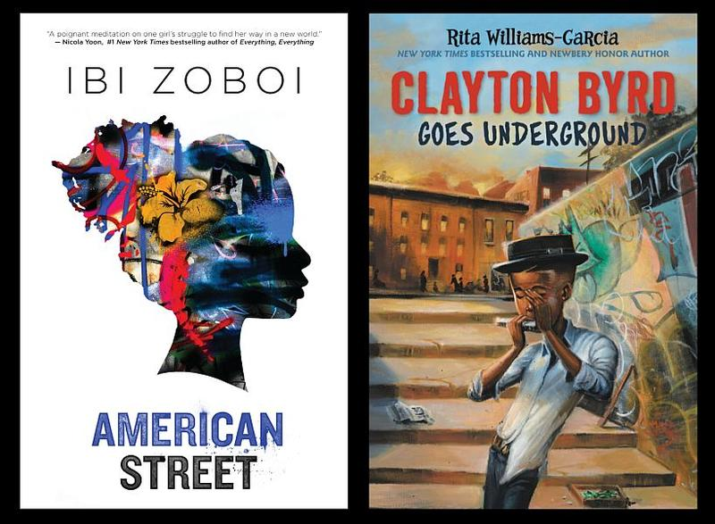 """American Street"" by Ibi Zoboi and ""Clayton Byrd Goes Underground"" by Rita Williams-Garcia are both on the shortlist for the 2017 National Book Award for Young People's Literature."