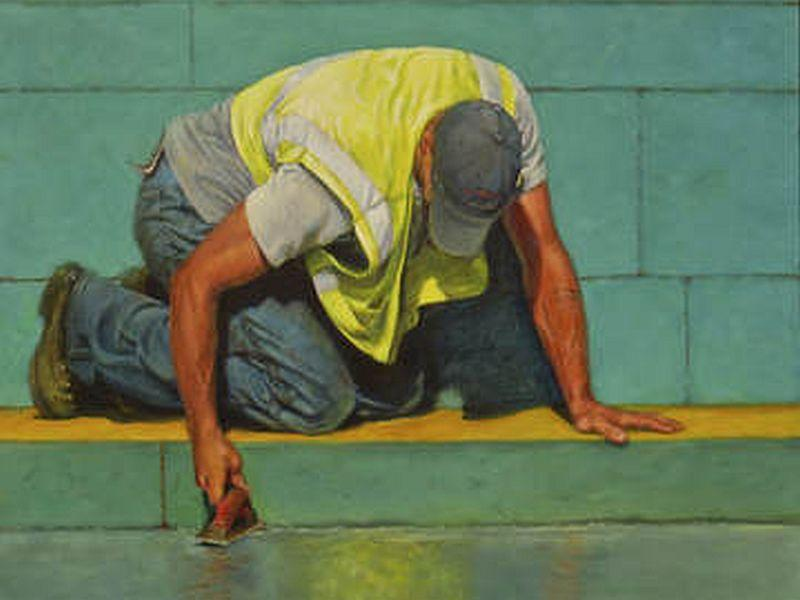 'Wet Cement' by figurative artist Heidi Broner is part of an exhibit titled, 'New American Realism,' up now through Dec. 22 at the TW Wood Gallery in Montpelier.