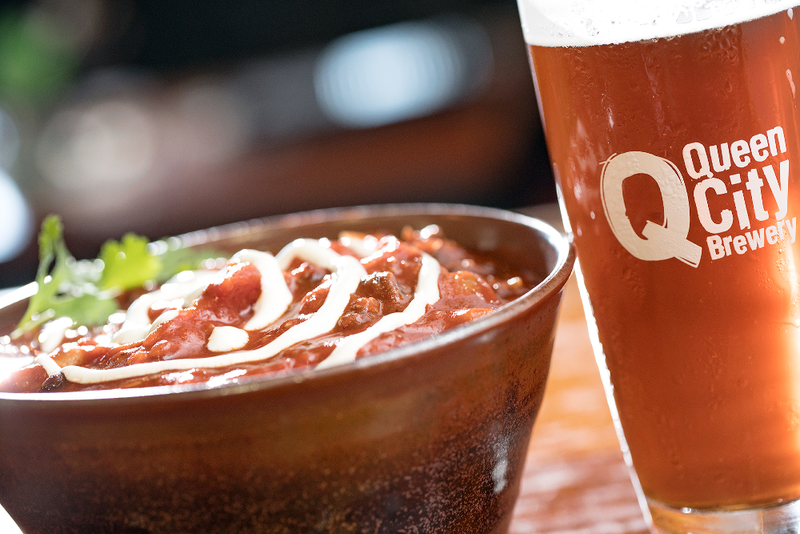 Chef and cookbook author Sandi Earle's turkey chili made with Queen City Brewery's Gregarious Scottish Ale.