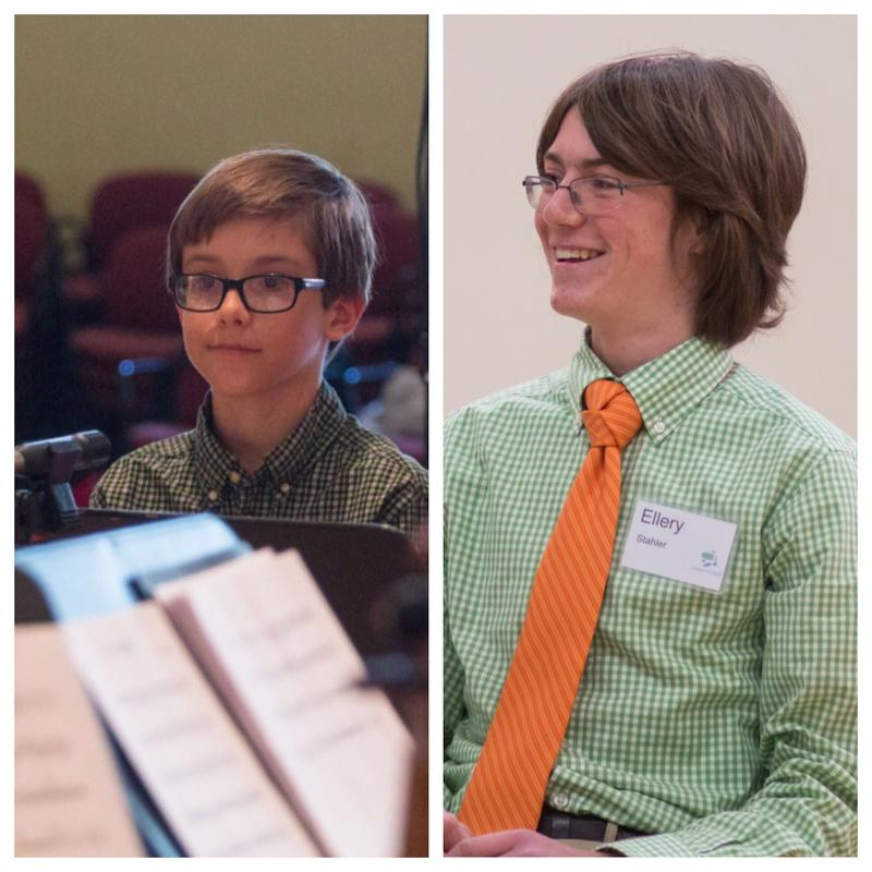 Brigham Cooper (left) and Ellery Stahler (right) are October's featured musicians for VPR Classical's Student Composer Showcase.