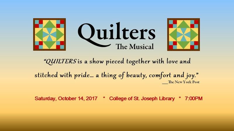 The musical will be peformed in Rutland Saturday, Oct. 14 at the College of St. Josepph. The show will also travel to Dorset, Shrewsbury, Brandon and Middlebury.