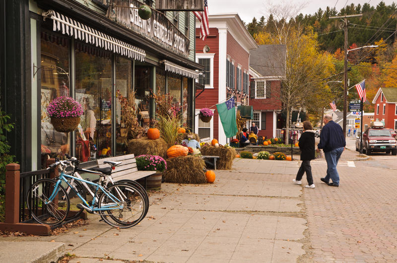 A scene from Main Street in Stowe back in October 2012.