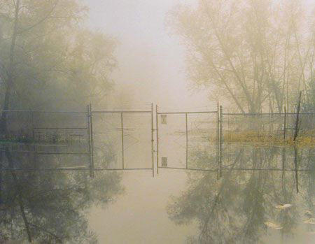 """Chromogenic color print of """"Hazardous Waste Containment Site, Dow Chemical Corp, 1998, 1998/2001."""""""