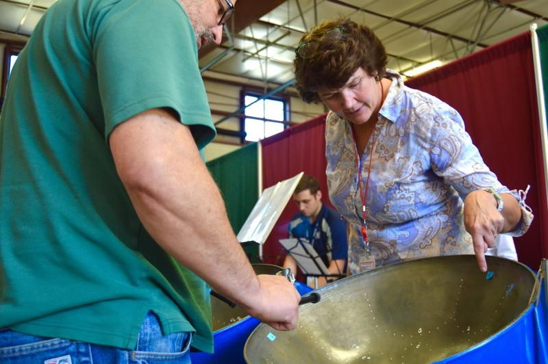 Jennifer Cohen, a long-time Rutland-area music and math teacher, has launched a new business, Calypso Consulting, that uses steel drums to foster team building, creativity and fun.
