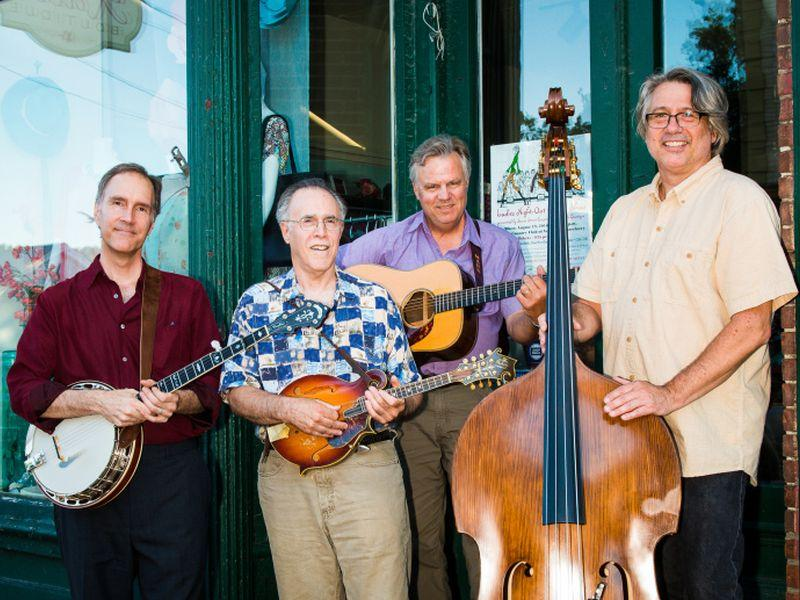 Northern Flyer plays bluegrass at the Old Brick Church in Williston on Friday night.