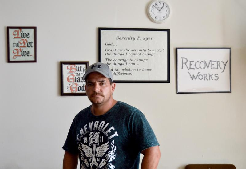 Robert Blaise says the peer drug counseling he took part in while he was in jail in Rutland has helped him stay clean since his release. He now meets weekly with his recovery coach and attends 12-step meetings at Rutland's Turning Point Center.