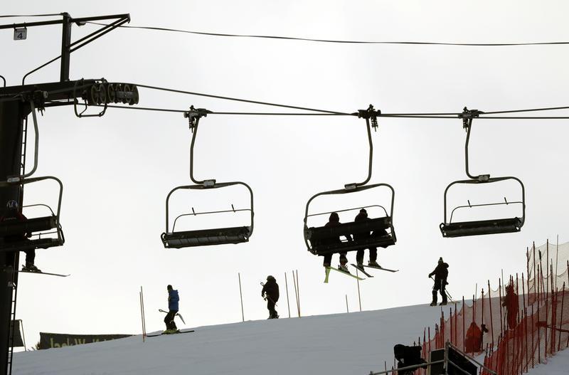 Ski lift in Killington, Vermont in November 2016.