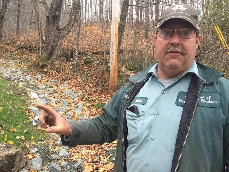 West Windsor road foreman Mike Spackman talks about the culvert the town just upgraded. The state's new clean water law requires towns to meet standards and some towns are worried about the costs.