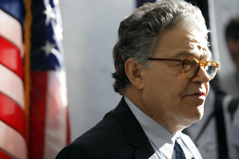 Minnesota Sen. Al Franken, seen here at Capitol Hill on Nov. 27