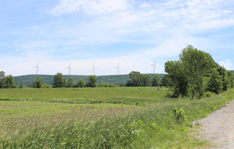 This photo simulation shows what the proposed Swanton Wind project might have looked like. Developers have put the project on hold for an undetermined amount of time.