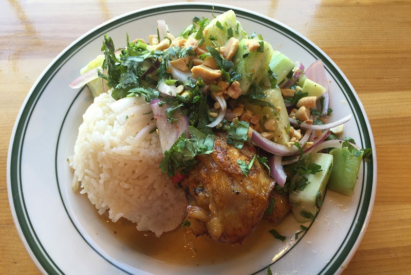 One dining highlight of 2017 for food writer, Sally Pollak, was the chile-lime chicken leg plate at Lucky Next Door in Burlington.