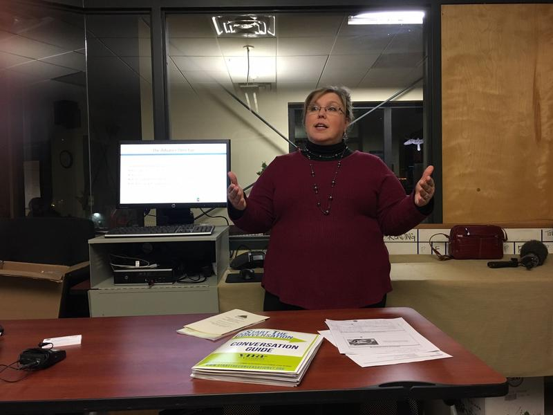 Jewelene Griffin, with Central Vermont Home Health & Hospice, has been giving community presentations to spread awareness about the availability of hospice services.