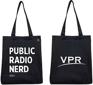 Support VPR and we'll thank you with this Public Radio Nerd tote bag!