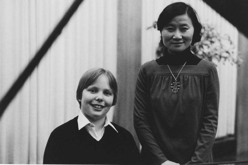 Ignat Solzhenitsyn, seen here as a child with his piano teacher Chonghyo Shin, will return to Vermont to perform in honor of Shin in Brattleboro on Saturday, Dec. 9.