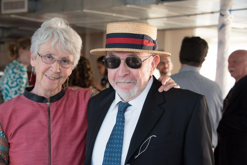 Ben Scotch with his wife, Barbara, in 2017.