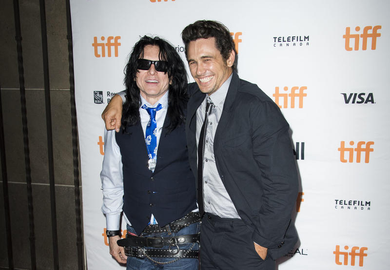 "Tommy Wiseau, left, with James Franco, the director and star of the film ""The Disaster Artist,"" based on the production of Wiseau's 2003 film, ""The Room."" Commentator Miles Anton says the two films serve as a reminder of what the medium is truly about."