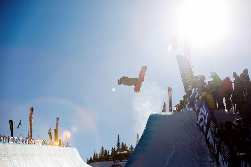 Kelly Clark  competed in the snowboard halfpipe finals at the 2017 Toyota U.S. Snowboarding Grand Prix at Copper, CO.