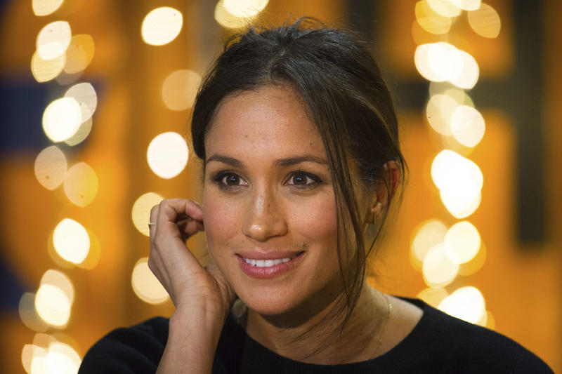 "Meghan Markle at a public event Tuesday Jan. 9, 2018. Commentator Steffen Gillom suggests Markle's engagement offers an opportunity to consider ""a fundamental question about race and language."""