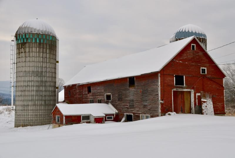 This 19th-century barn is located near Pittsford's town center. Baird and Betsy Morgan bought the barn, farmhouse and 20 acres of land last year and want to turn it into a community center.