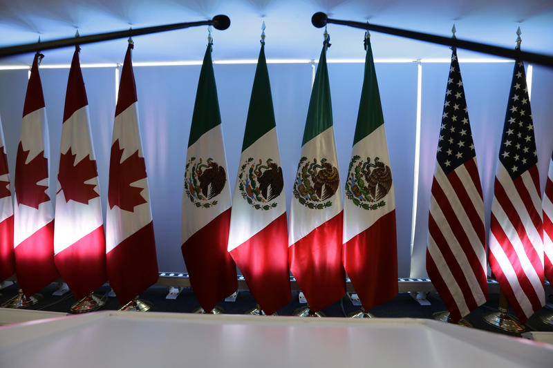 Trade negotiators have finished a round of talks in Montreal. Last September, representatives from the United States, Mexico and Canada met in Mexico City, seen here.