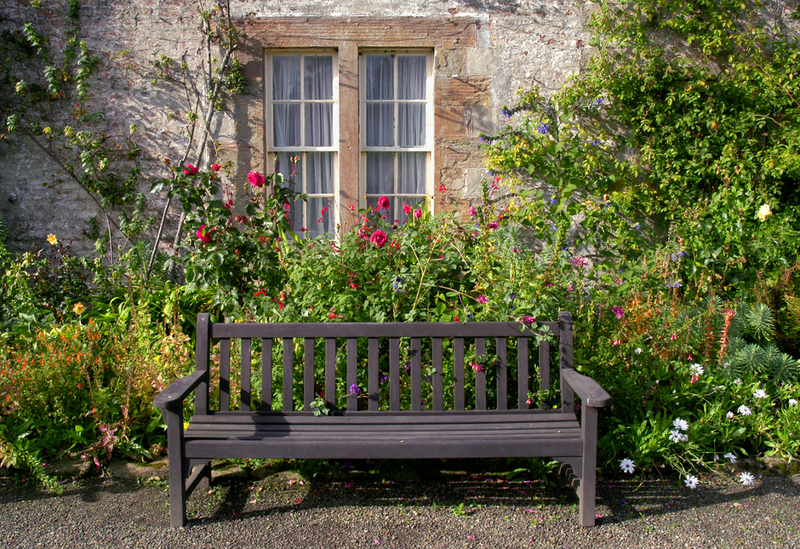 When planning a cottage garden, remember to allow space for a seating area to sit back and enjoy your creation.